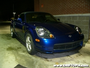 Image of the front of project mr2 spyder.