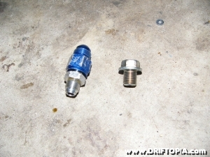 The npt fittings provided in the comptech supercharger is used for the oil lines.