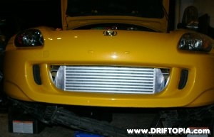 Jpg image of project s2000's new front mount intercooler