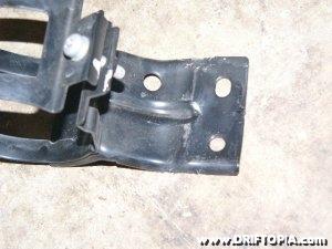 The condenser bracket post modding