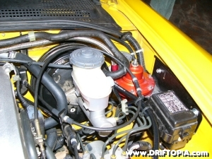 The fmu installs right next to the master cylinder on the s2000.