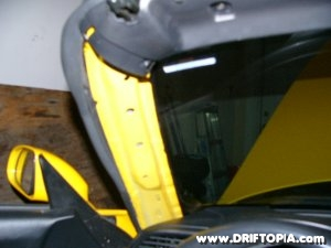Jpg image of the factory pillar removed from the Honda S2000