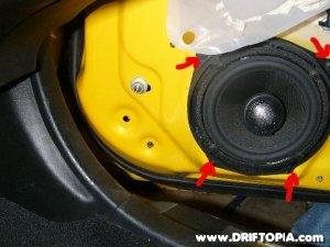 Honda S2000 door speaker removal.