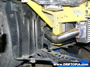 Jpg image showing the lower hot pipe on the fmic honda s2000
