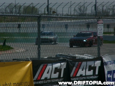 Image of two cars drifting at the Nopi Drift event in St. Louis