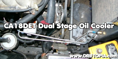 Header image for the dual stage oil cooler install on the CA18DET.