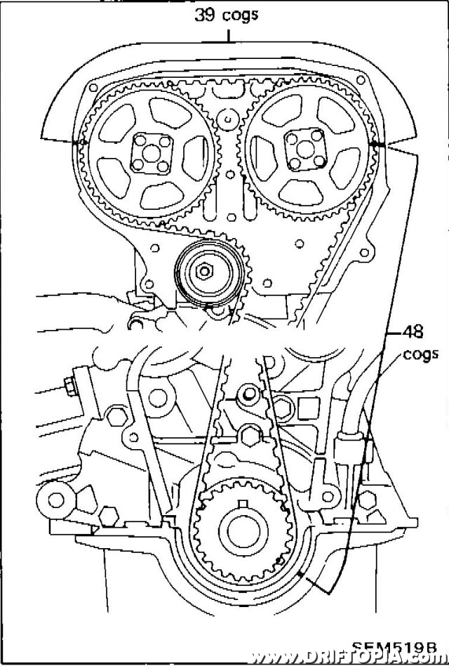 FSM image indicating the appropriate cog spacing.