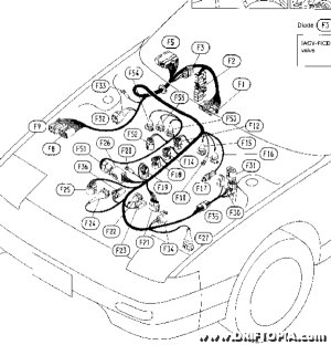 Image showing the e.f.i. harness from a Nissan 240sx.