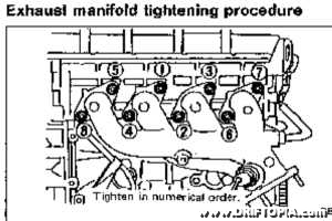 The tightening order of the head nuts should be followed or warping can result.