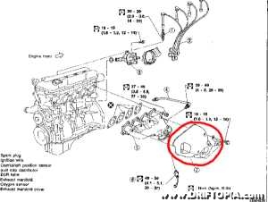 Image showing the header of a KA24DE motor.