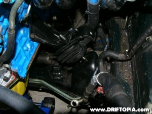 Removing the motor mount from the ca18det swapped Nissan 240sx S13