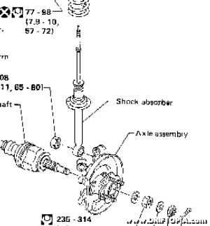 The lower portion of the shock bolts to the axle housing